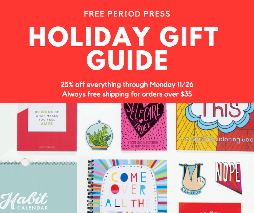 Free Period Press Holiday 2018 Gift Guide