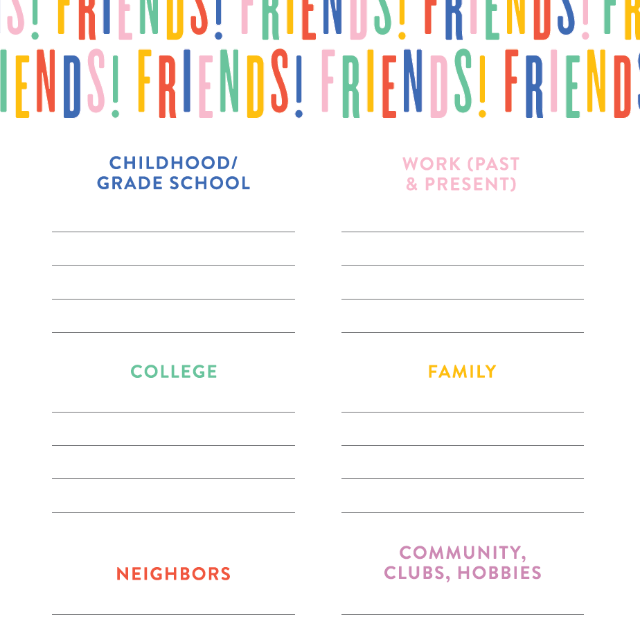 Friendship Mapping Printable