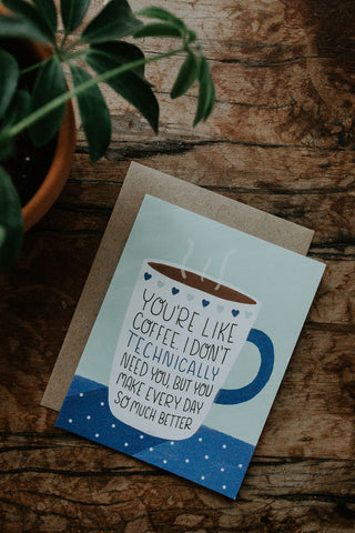You're Like Coffee - Healthy Love Valentines