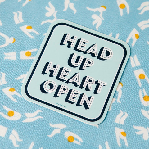 Head Up Heart Open - Vinyl Decal Sticker