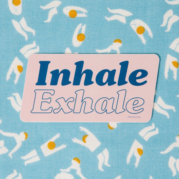Inhale Exhale - Vinyl Decal Sticker