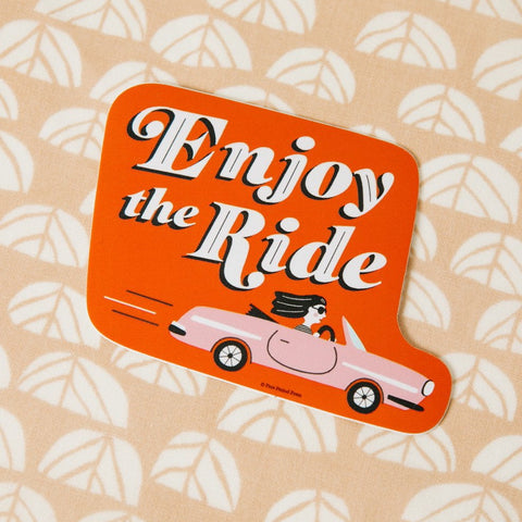 Enjoy the Ride Vinyl Decal Sticker