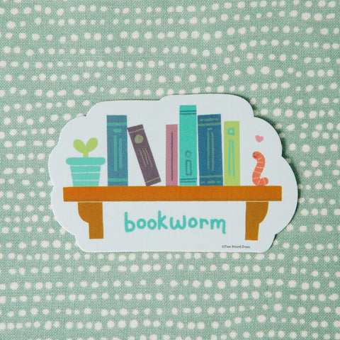 Bookworm Vinyl Decal Sticker