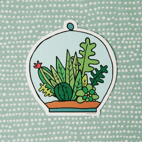 Succulent Terrarium Vinyl Decal Sticker