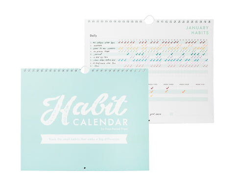Habit Tracker Calendar - Free Period Press
