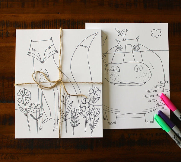 Creative Creatures: Animal Coloring Pages (Set of 30)