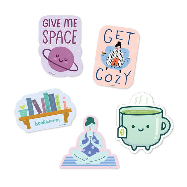 Introvert Sticker Pack - 5 Vinyl Decal Stickers