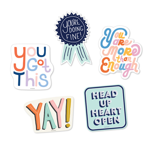 Motivational Sticker Pack - 5 Vinyl Decal Stickers