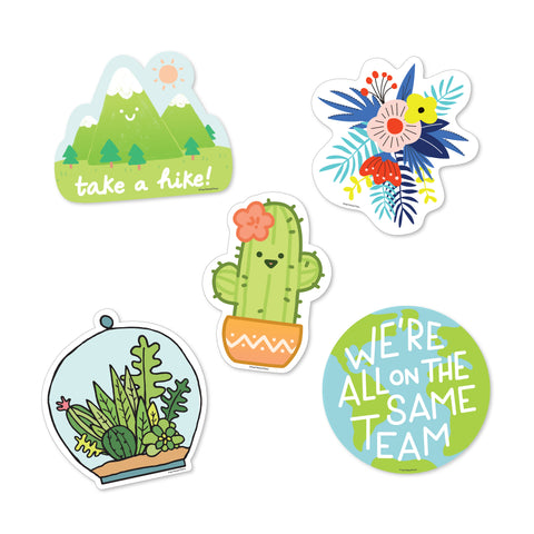 Nature Sticker Pack - 5 Vinyl Decal Stickers