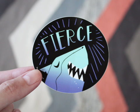 Fierce Shark Vinyl Decal Sticker