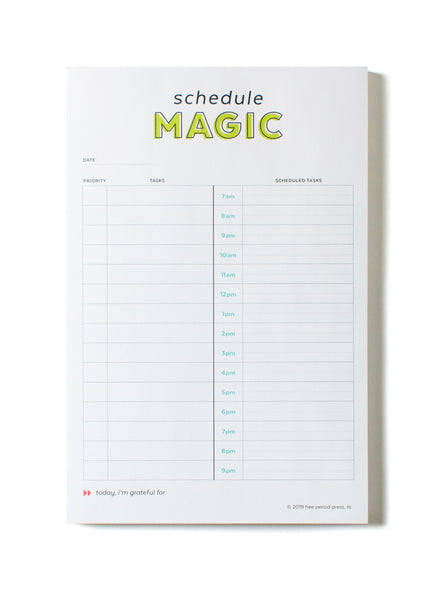 Daily Schedule Magic To-Do List Notepad