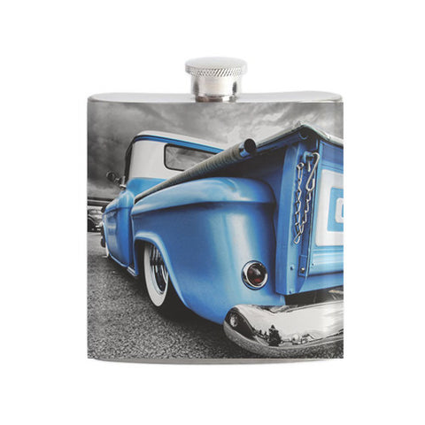 Blue Chevy Truck Flask