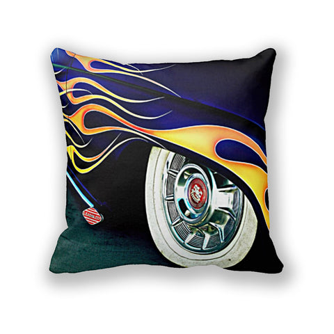 Lead Sled with Flames Throw Pillow
