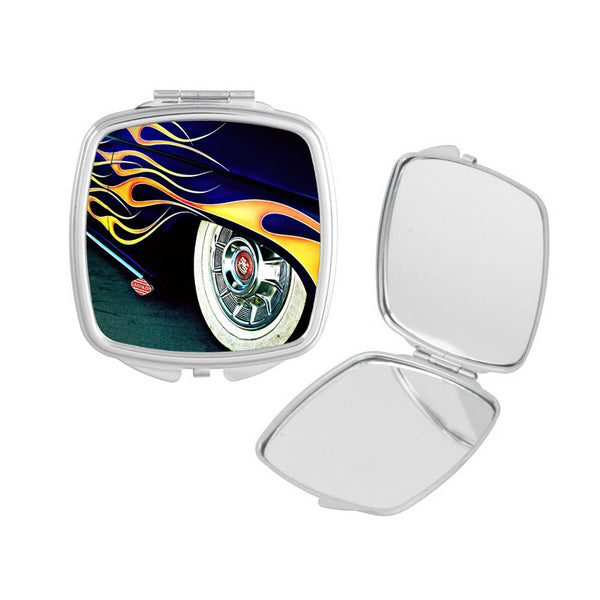 Lead Sled with Flames Compact Mirror