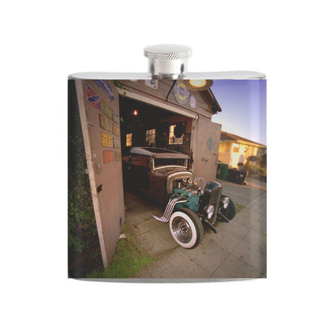 Hot Rod Garage Flask