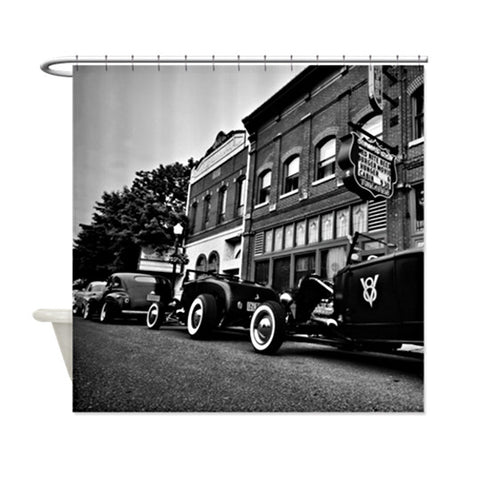 Row of Roadsters Shower Curtain