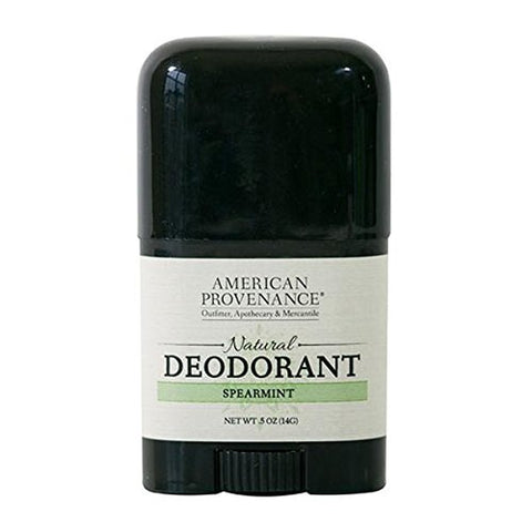 AMERICAN PROVENANCE TRAVEL SPEARMINT DEODORANT 0.5 OZ.
