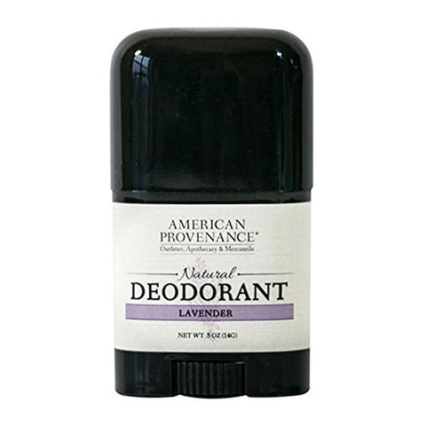 AMERICAN PROVENANCE TRAVEL LAVENDER DEODORANT 0.5 OZ.