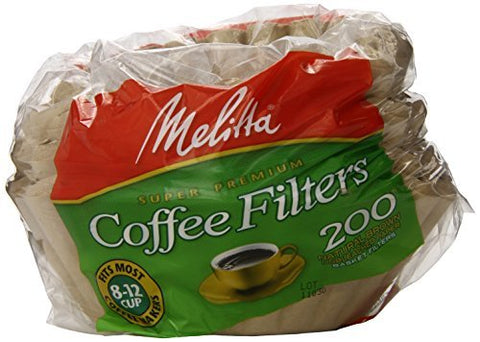 Melitta Coffee & Tea Filters Basket Coffee Filters, Natural Brown 100 count