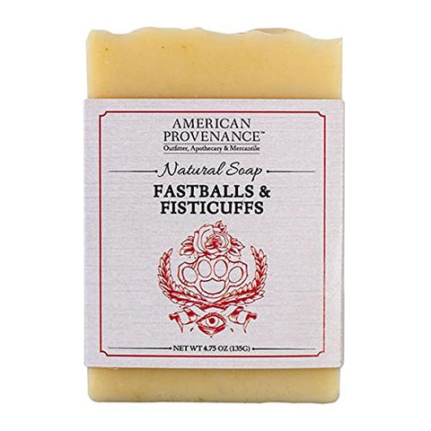 AMERICAN PROVENANCE FASTBALLS & FISTICUFFS BAR SOAP 4.75 OZ. PACK OF 6