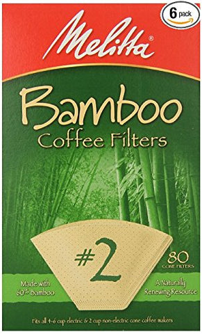 Frontier Natural Products 227310 2 Cone Coffee Filters, Bamboo 80 count