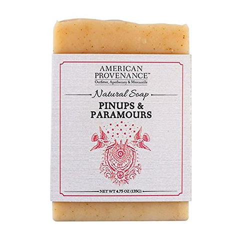 AMERICAN PROVENANCE PINUPS & PARAMOURS BAR SOAP 4.75 OZ. PACK OF 6.