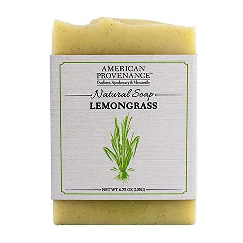 AMERICAN PROVENANCE LEMONGRASS BAR SOAP 4.75 OZ. PACK OF 6