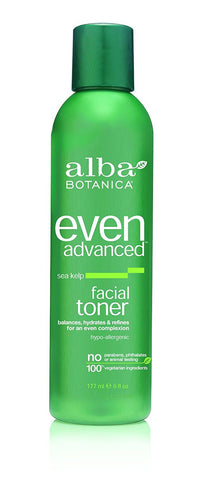 Alba Botanica Even Advanced, Sea Kelp Facial Toner, 6 Ounce