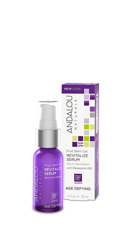 Andalou Naturals Fruit Stem Cell Revitalize Serum with Resveratrol Q10, 1.1 Ounce