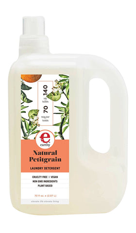 Earthy Clean Clothes Detergent, Petitgrain, 70 Ounce