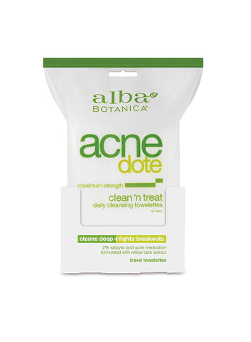 Alba Botanica Acnedote Clean Treat Towel, 30 Count