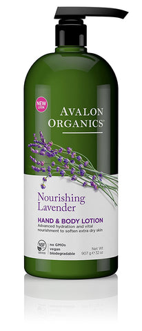 Avalon Organics Hand & Body Lotion, Aloe Unscented, 12 Ounce