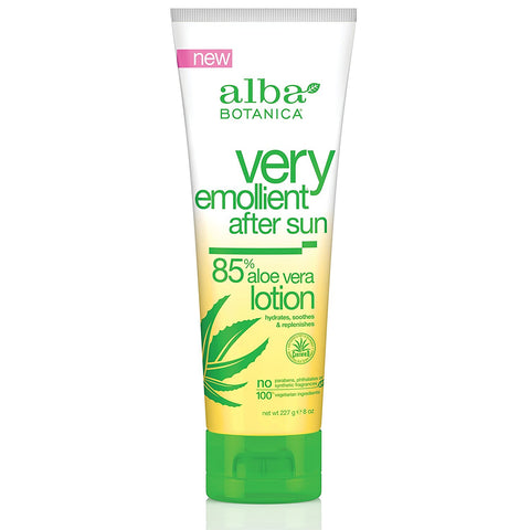 Alba Botanica Very Emollient After Sun Lotion - 85% Aloe Vera - 8 oz