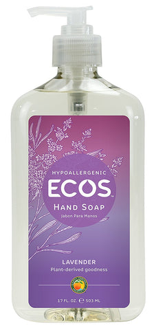 Earth Friendly Products 966506 Liquid Hand Soap, Lavender Scent, 17-oz.