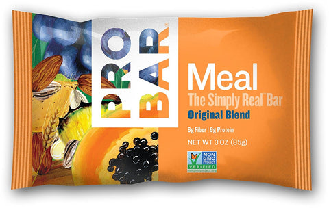 Pro Bar Meal Bars Arts Original Blend The Simply Real Bar 12 (3 oz.) bars per box