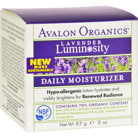 Avalon Organics Brilliant Balance with Lavender & Prebiotics Daily Moisturizer 2 oz