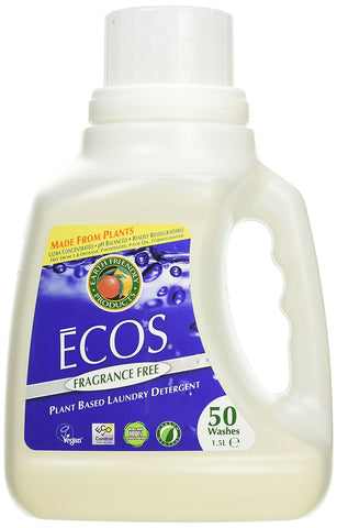 Earth Friendly - Baby Ecos Hypoallergenic Laundry Detergent 25 to 50 Loads Free
