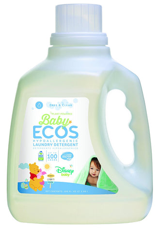 Earth Friendly - Baby Ecos Hypoallergenic Laundry Detergent 50 to 100 Loads Free