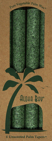 Aloha Bay Palm Tapers, Green, 4 Count