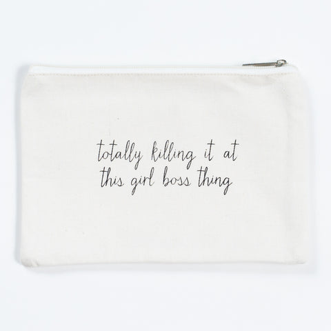 Killing it Cosmetic Bag- Girl Boss