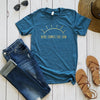 Heather Teal Here Comes The Sun Short Sleeve Tee