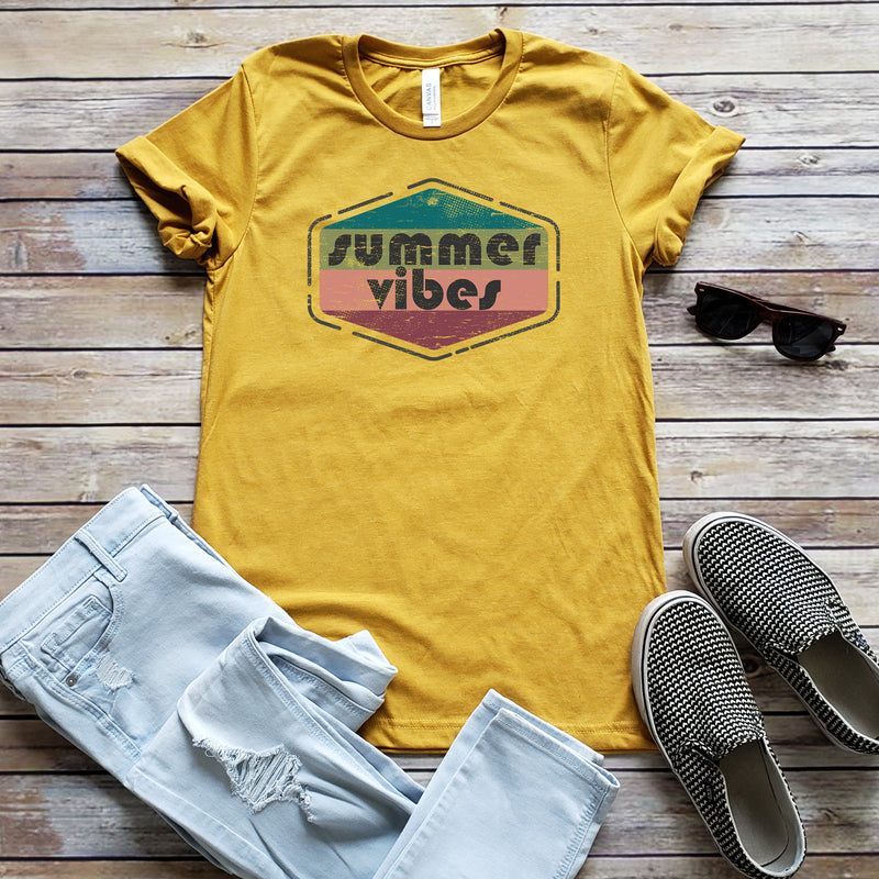 Heather Mustard Summer Vibes Unisex Short Sleeve Tee