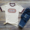 Maroon Ringer Be Kind Short Sleeve Tee
