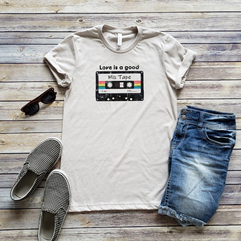Heather Dust Love Is A Mix Tape Unisex Short Sleeve Tee