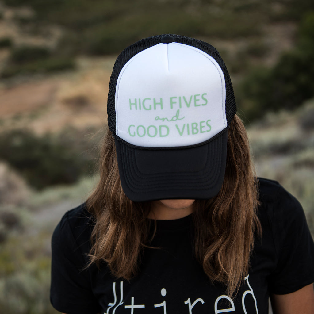 MESH BACK HAT | High Fives and Good Vibes