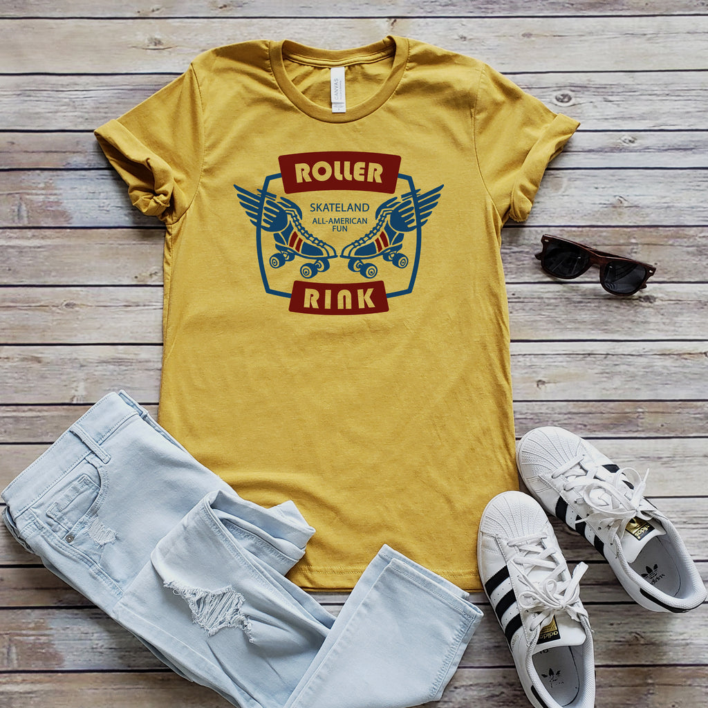 Heather Mustard Roller Rink Short Sleeve Tee