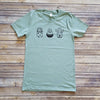 Dusty Green Potted Cactus Short Sleeve Tee