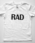 UNISEX YOUTH TEE | RAD | White