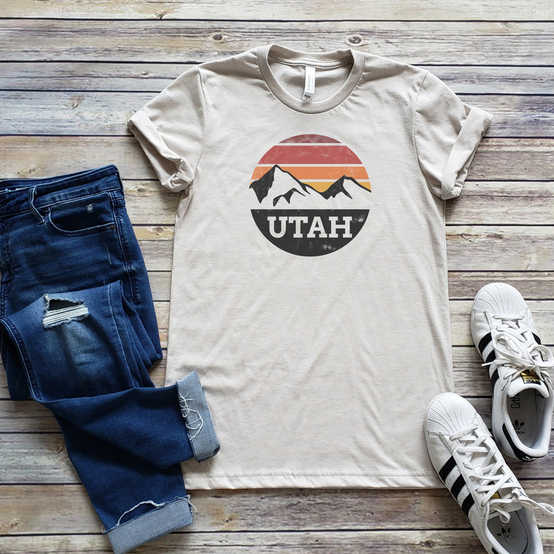 Heather Dust Utah Circle Unisex Short Sleeve Tee