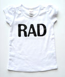 GIRL'S TEE | RAD | White Puff Sleeve